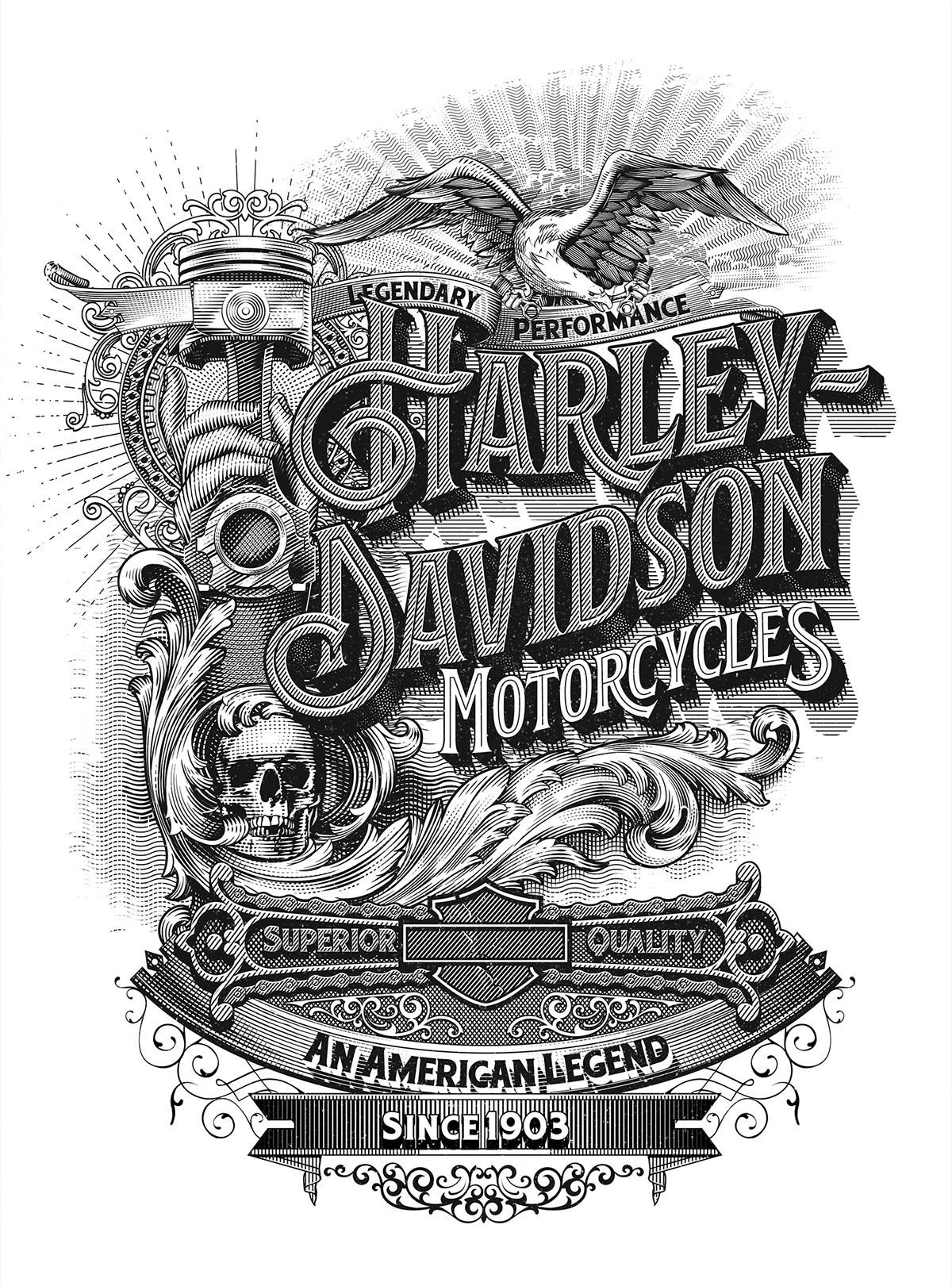 Harley Davidson Poster On Behance
