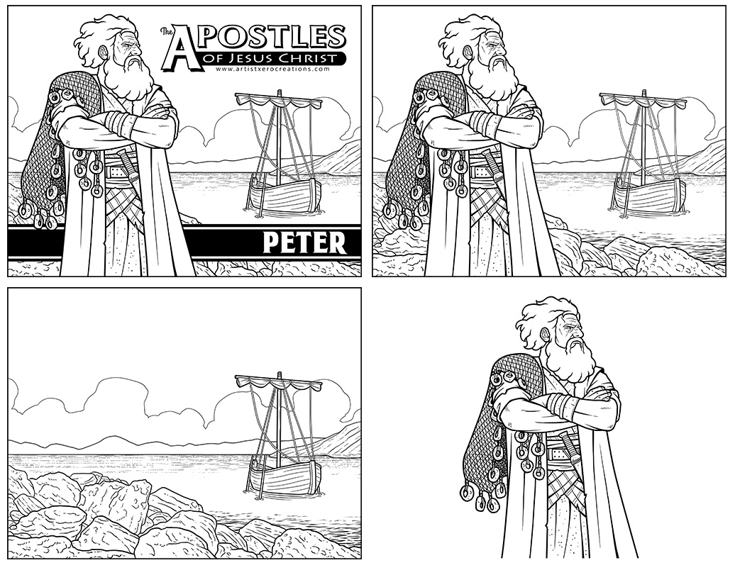 The Heroes of the Bible Coloring Pages on Behance