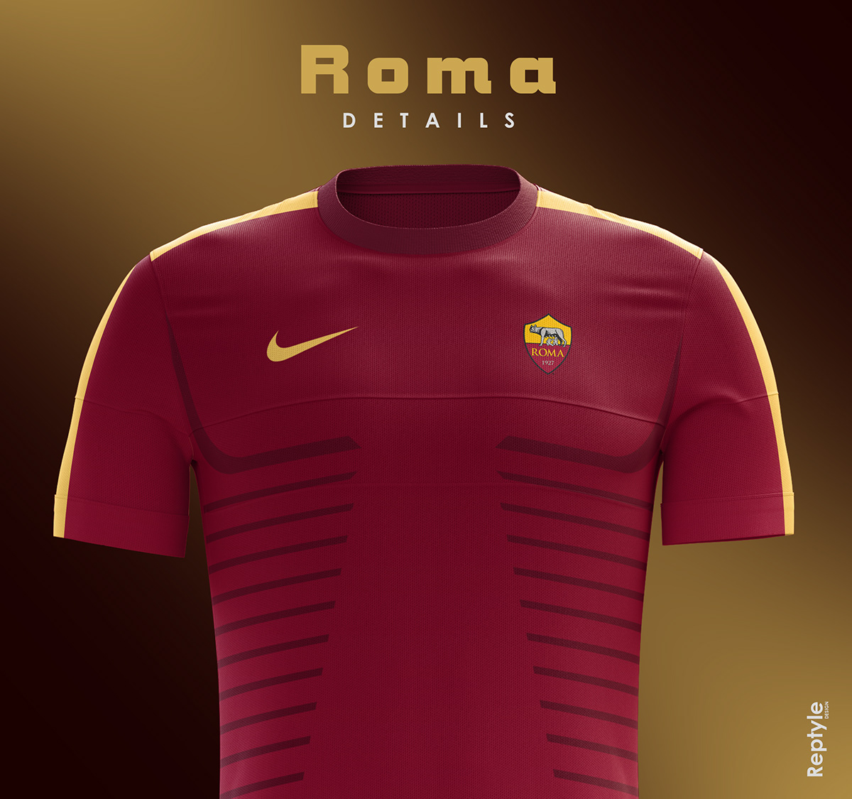 AS Roma soccer kit concept on Behance 62c079a83