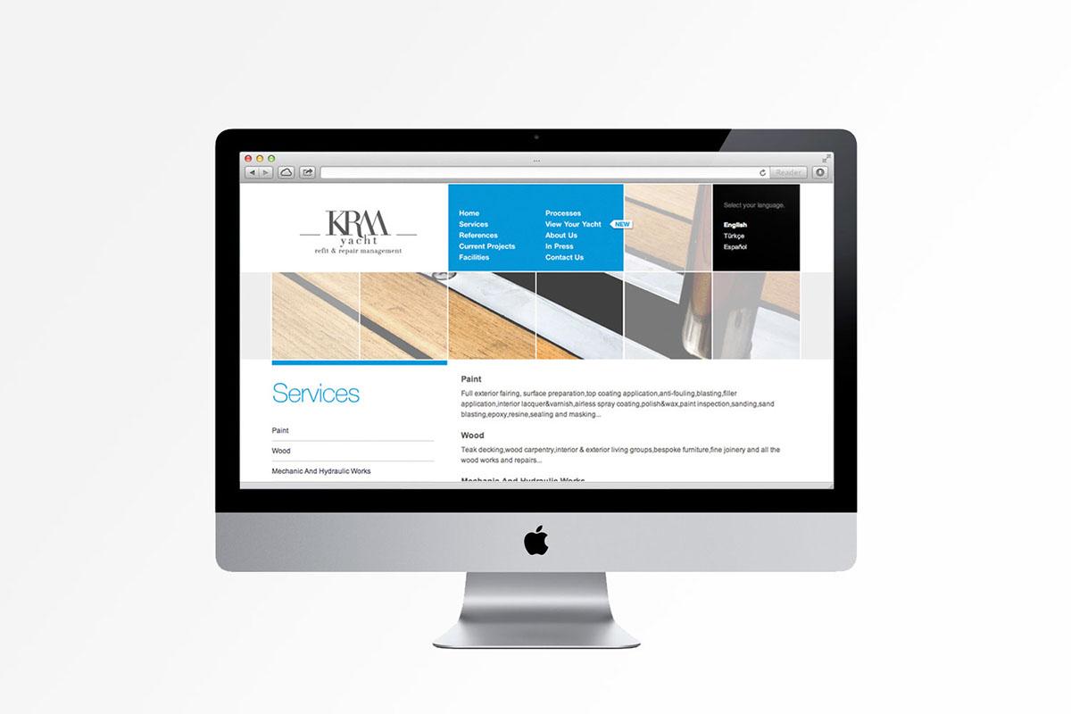 yacht krm logo brand Web broshure marine refit Turkey Catalogue