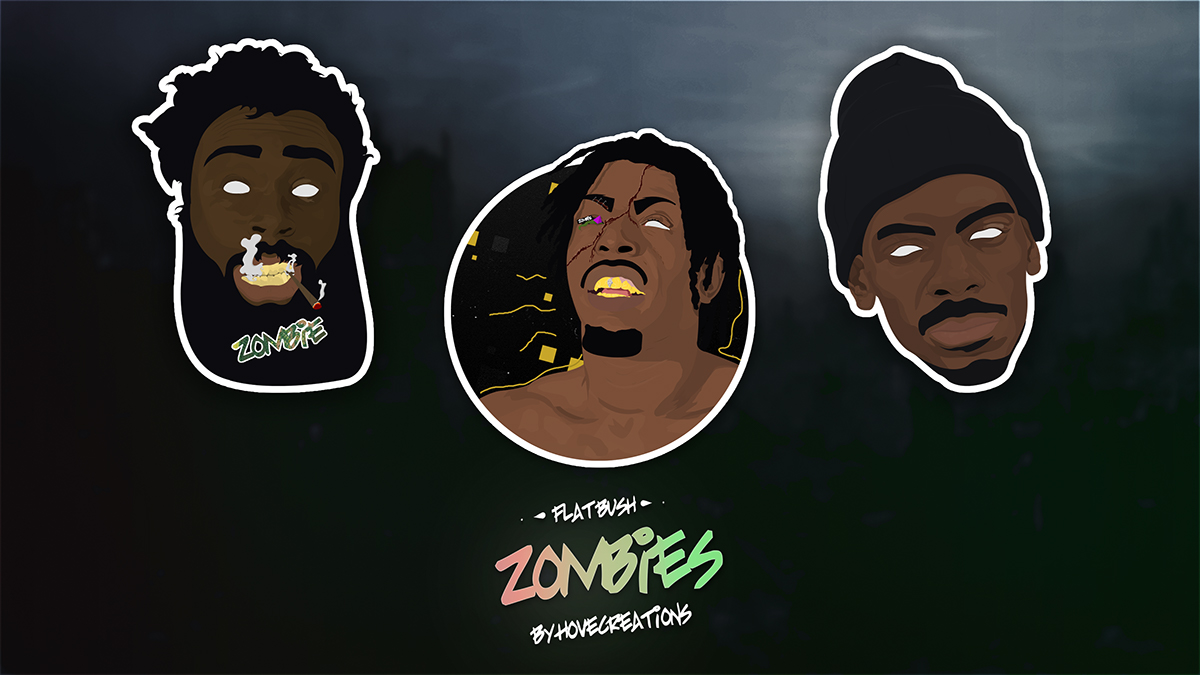 Flatbush Zombies Sticker Collection On Behance