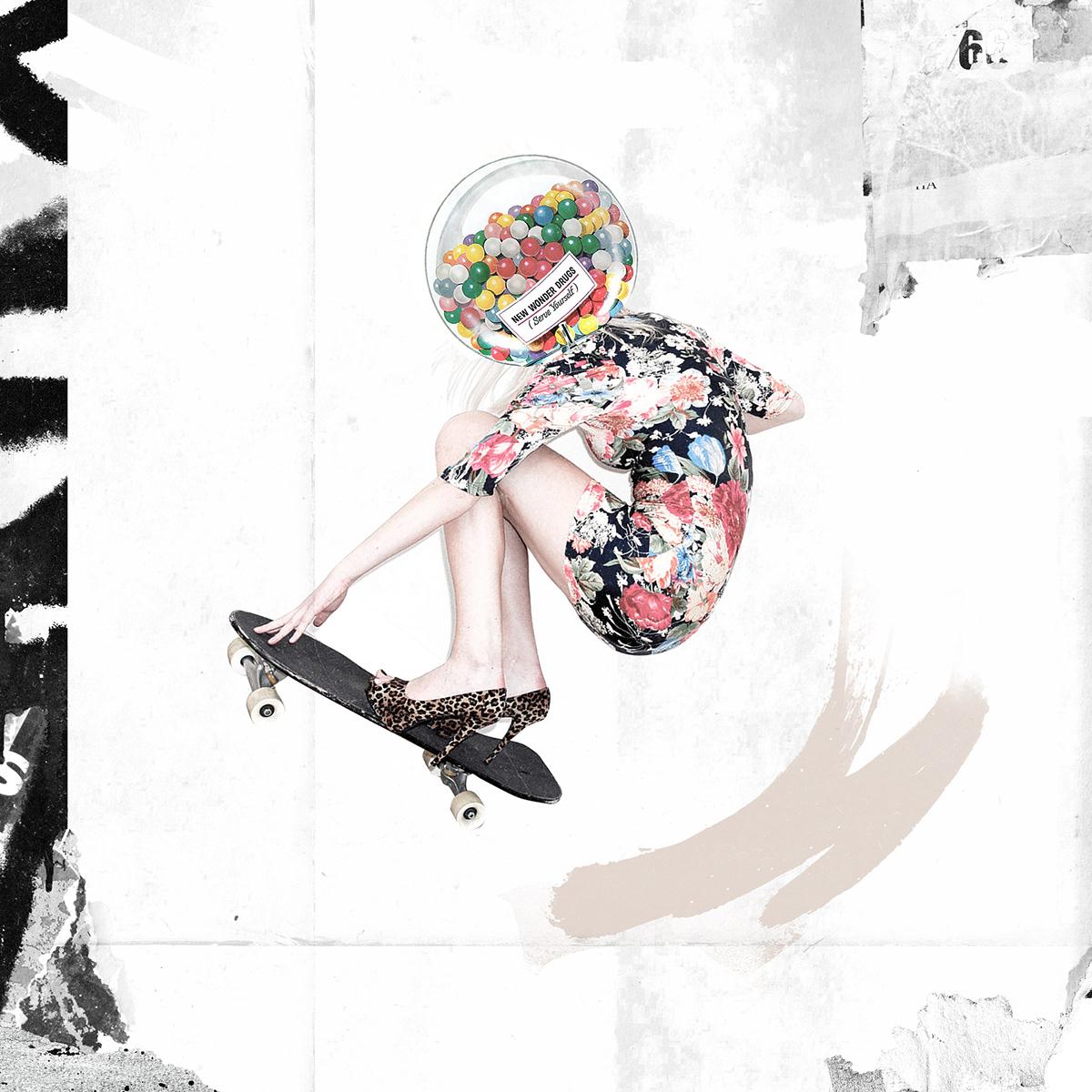 artwork collage cut and paste digital graphic ILLUSTRATION