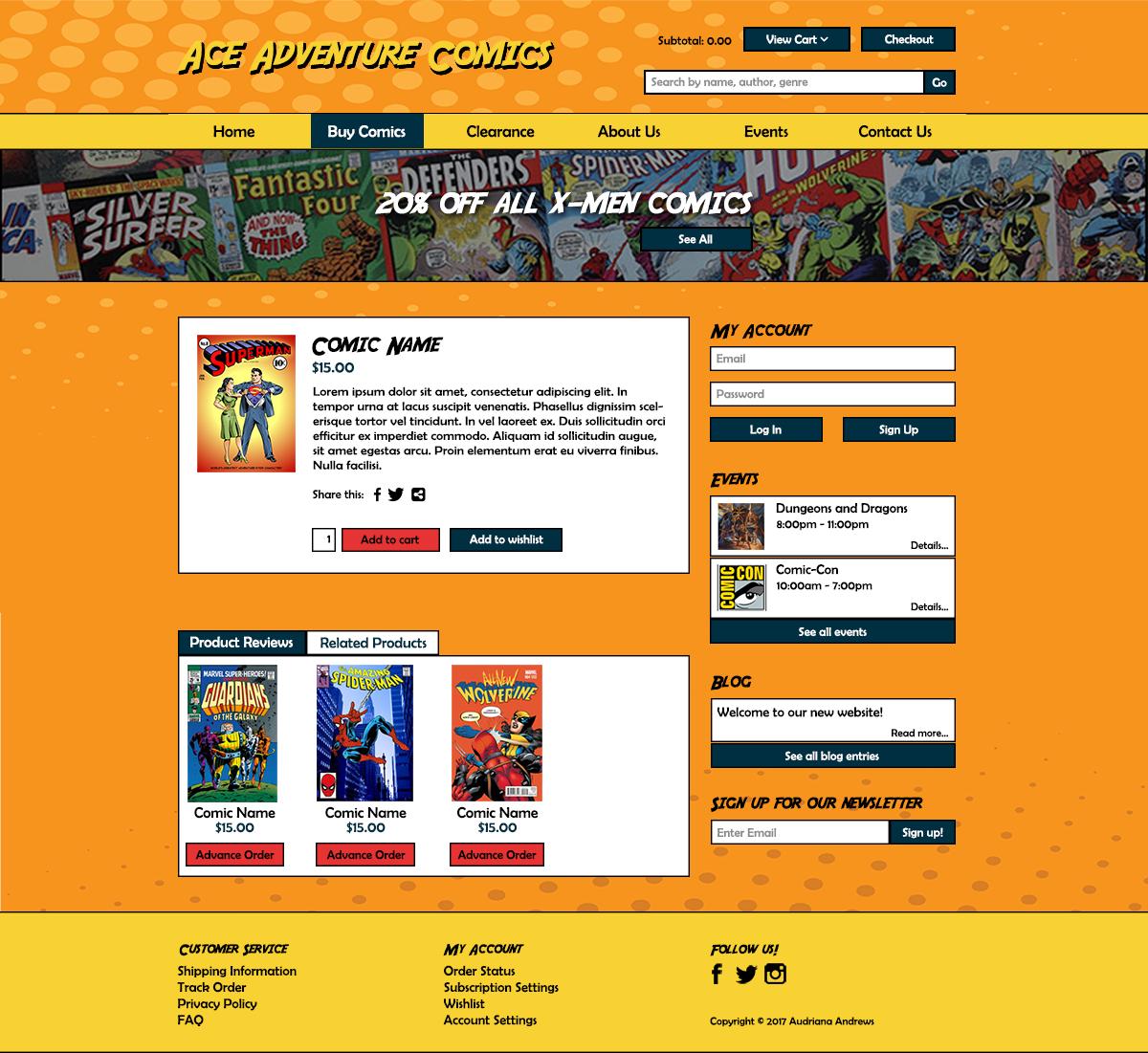 photoshop,Comic Book Store,Web Design
