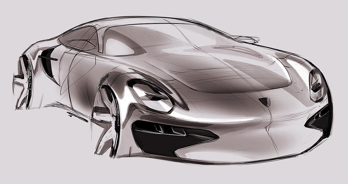 Car Design Sketches #8. Industrial Design, Illustration, Automotive Design