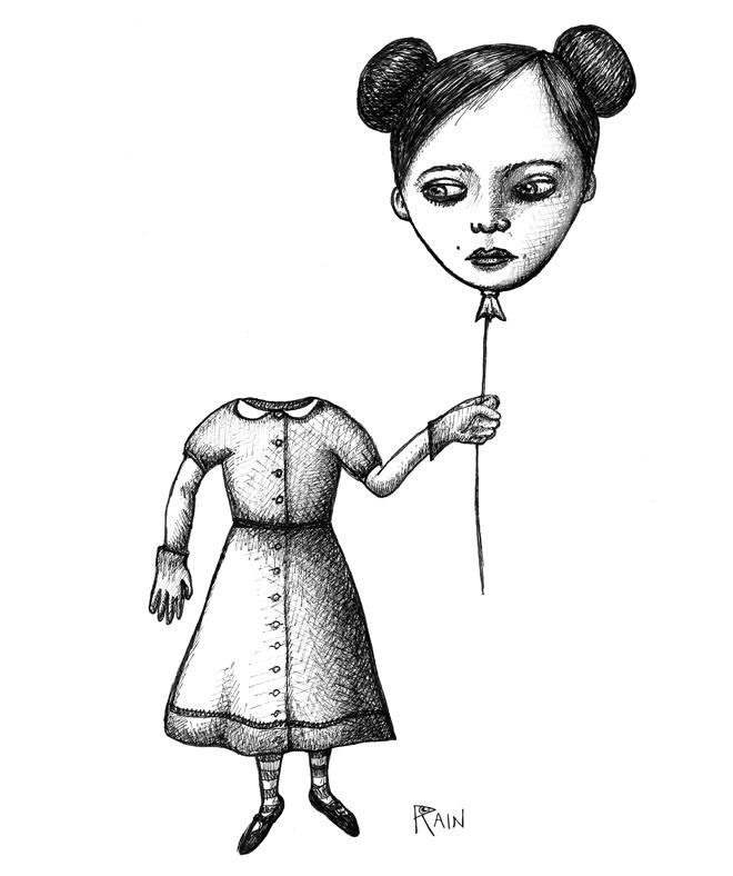 THEMOSTMARVELOUSDAY Jennifer Rain Sherwin pen Drawing Illustration black and white
