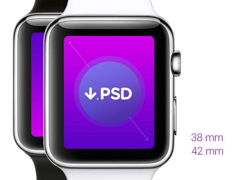 FREE Apple Watch - Download PSD Template #freebie
