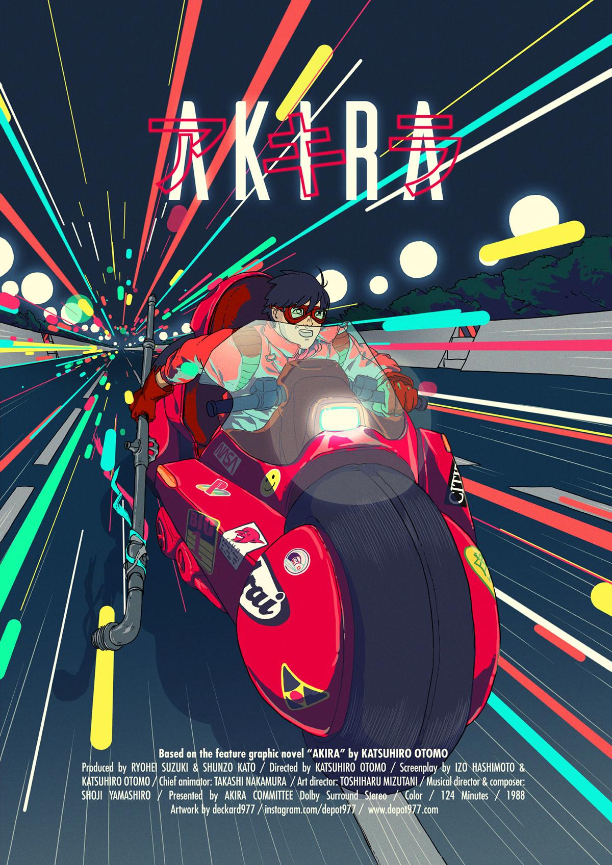 akira,animation ,anime,AR,fanart,ILLUSTRATION ,Kinetic Poster,motion,motion design,poster