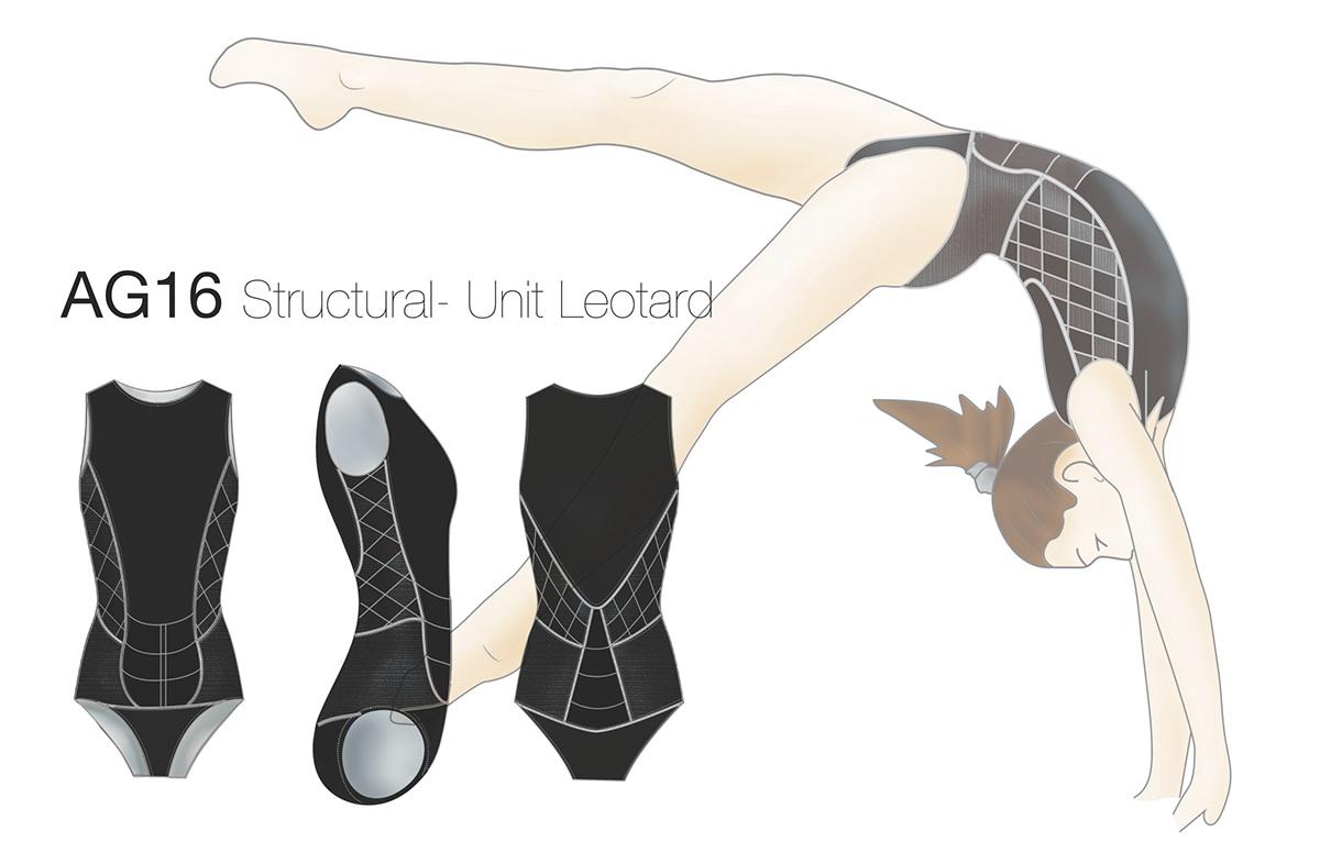 active wear function Form brace gymnastics prevention Injury product design  risd