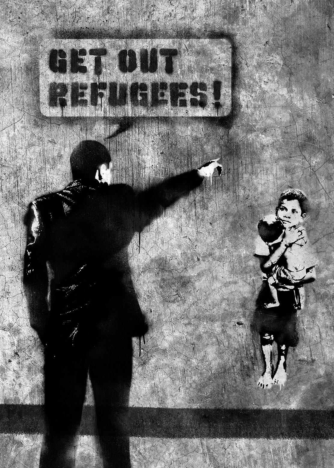 poster Refugees socialawareness socialposter Graffiti