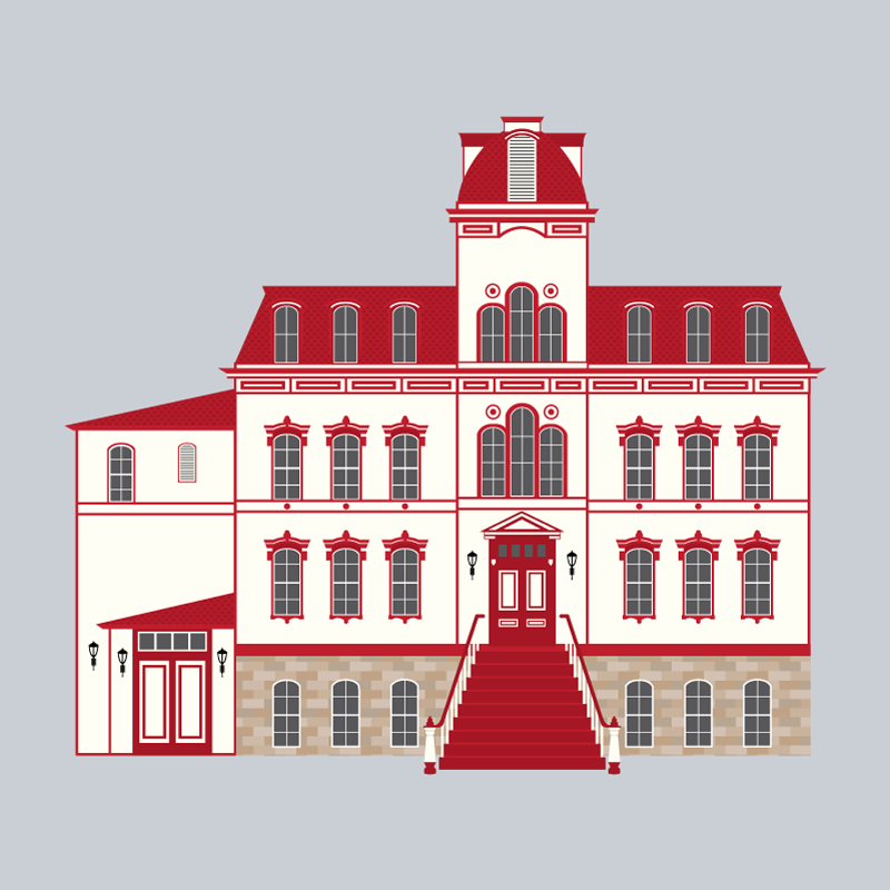 illustrated building historic building virginia city nevada tourism