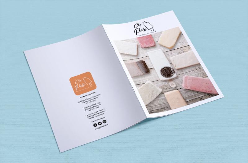 brand brochure design ice cream popsicle che polo