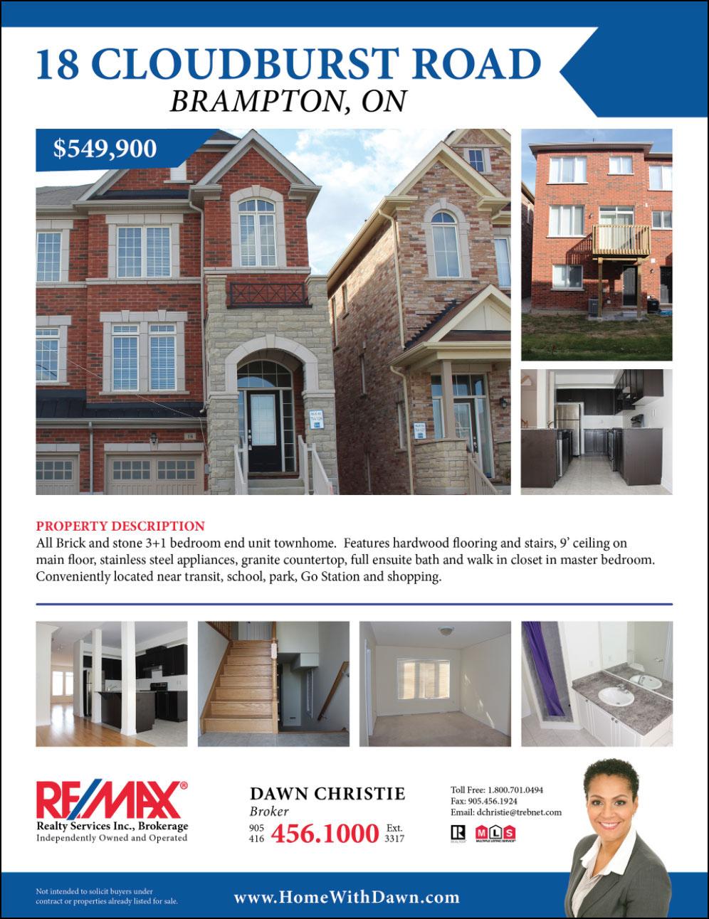 Real Estate Feature Sheet Virtual Tour On Behance