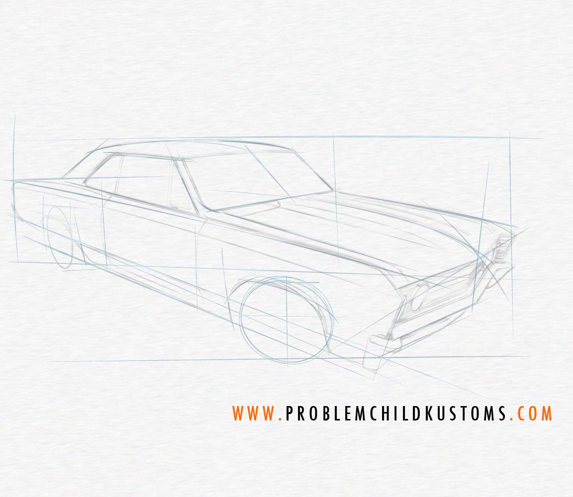 Brian Stupski - Drawing a Chevelle