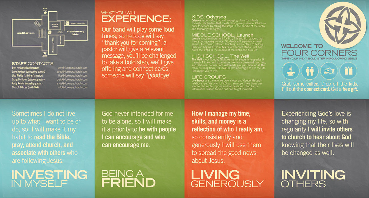 Print on behance for Welcome brochure template