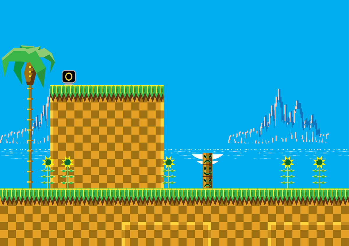 Sonic Vector Level Game Gear Hill Zone On Behance
