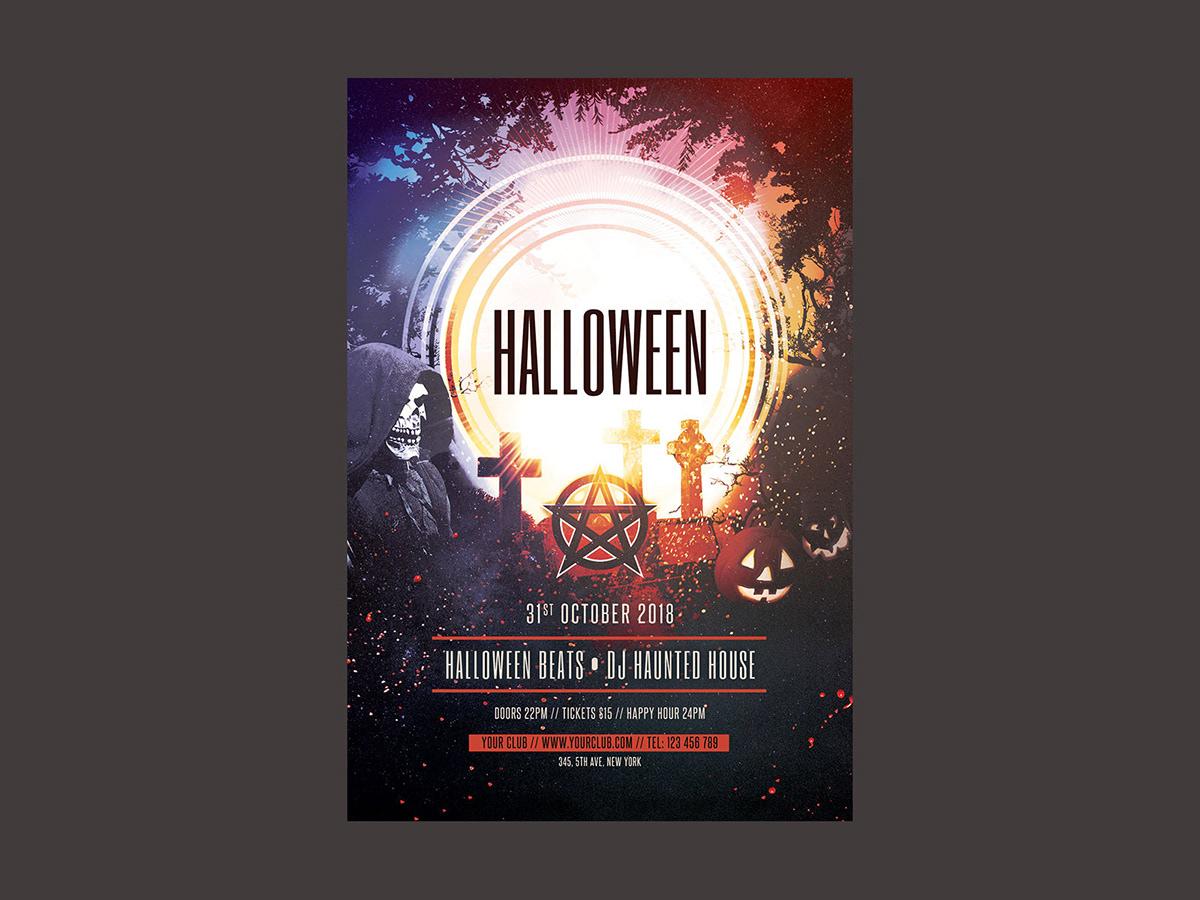 Halloween Flyer Template On Behance