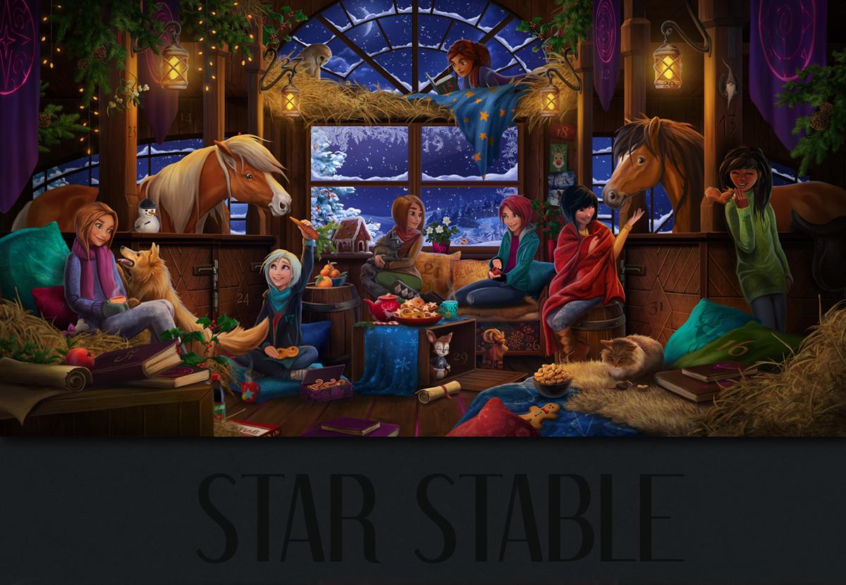 Star Stable Christmas Calendar 2020 Star Stable Holiday Calendar on Behance