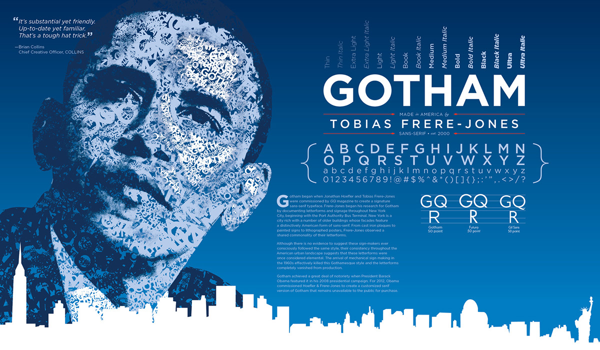 Gotham Typography Poster By Michael Bower On Behance