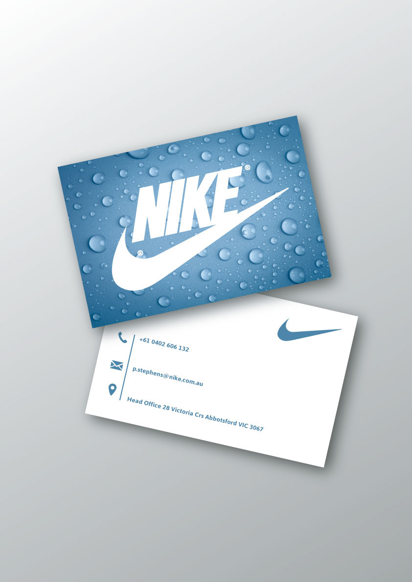 Amazing nike business card pictures inspiration business card nike business card on behance reheart Choice Image
