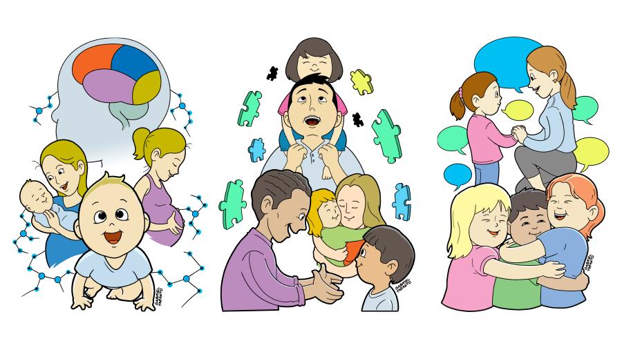 ILLUSTRATION  families multicultural parenting Drawing  positive discipline