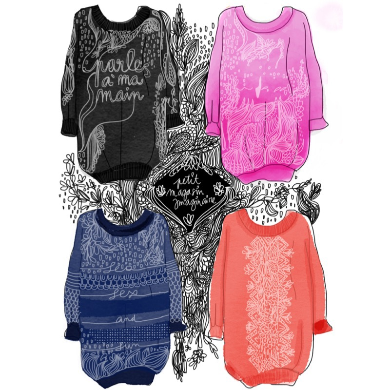 Imaginaire Magasin petit magasin imaginaire - sweaters on behance