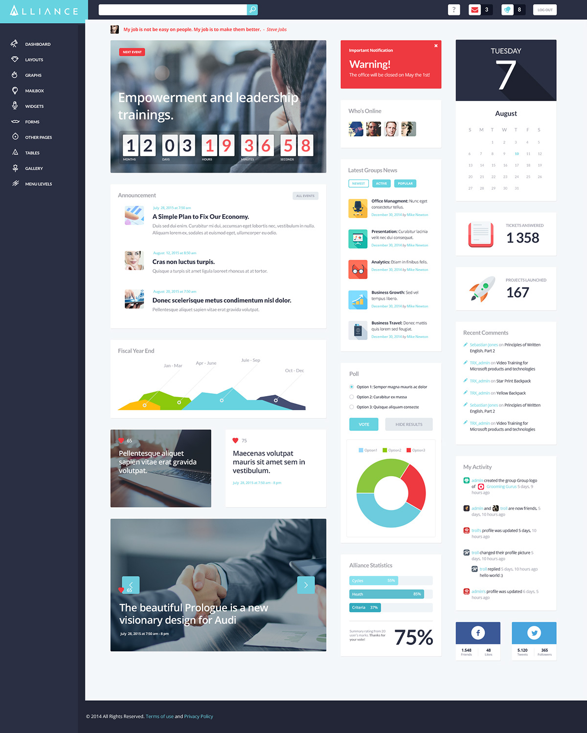 wordpress intranet theme