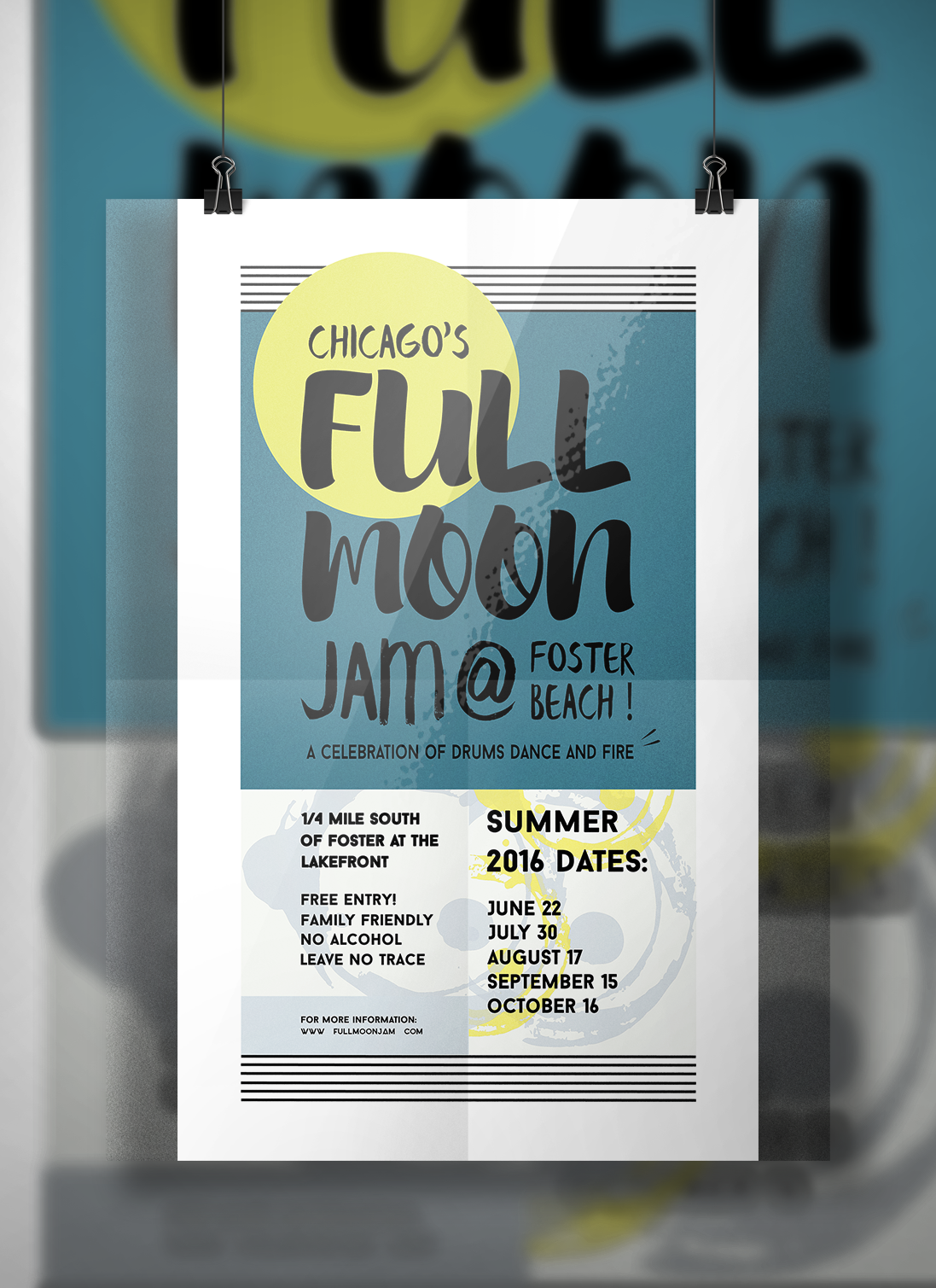 Full Moon Fire Jam - Poster Design on Behance