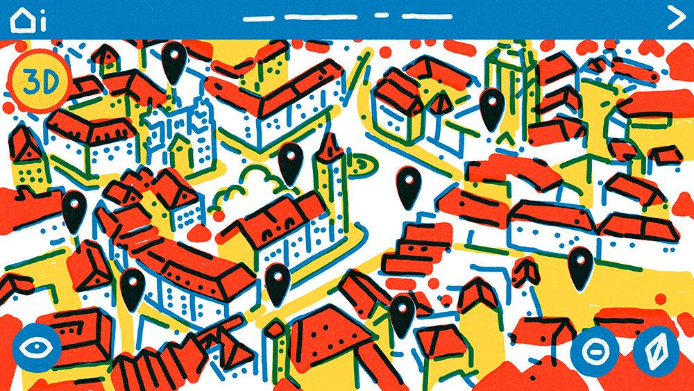 ilustracion magazine cover editorial revista prensa chile maps color graphic