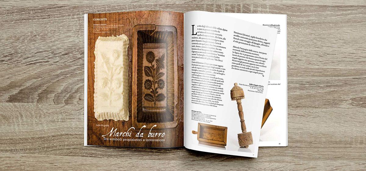 magazine fiemme fassa summer dolomites Layout graphic