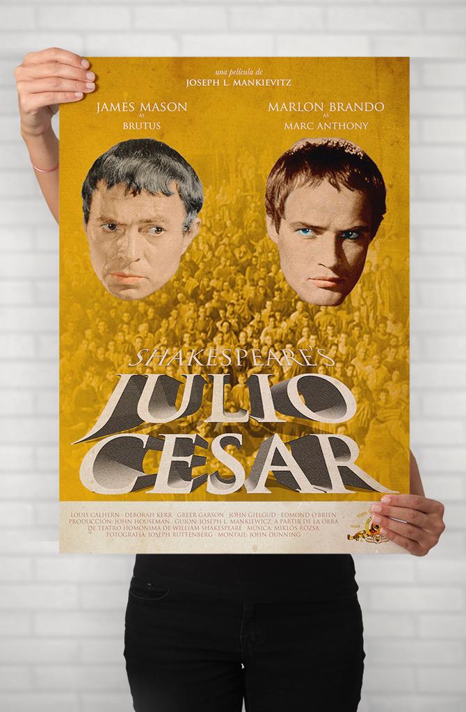 Cartel cinematográfico de Julio César de Shakespeare