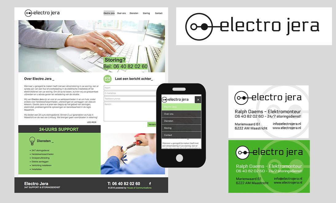 Electro Jera elektricien Logo Design stroomstoring maastricht