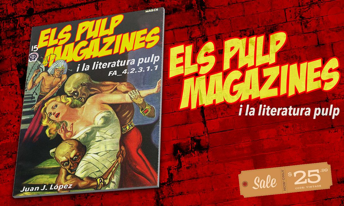Cubierta de la revista sobre las revistas pulp