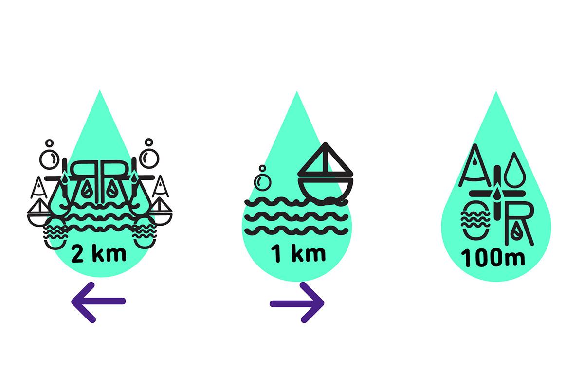 maquetación Maqueta agua watter ecologico eco