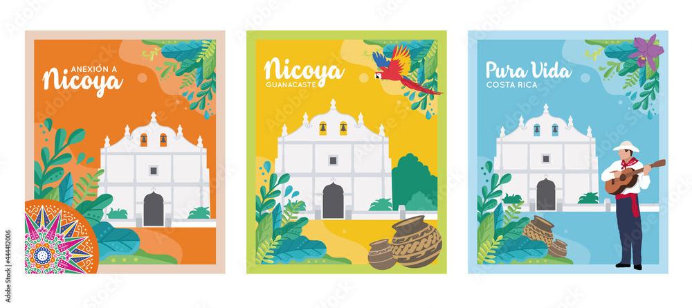arte carreta tipica Costa Rica diseño ilustracion Ox Cart TIPICO traditional TRADITIONAL ART vector