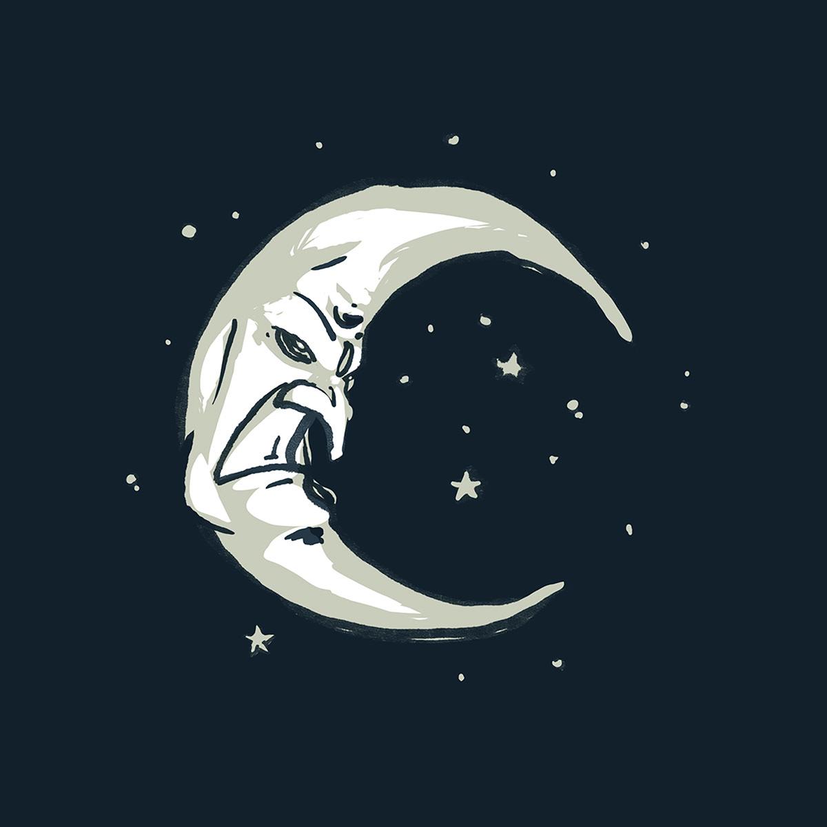 Image may contain: moon, illustration and cartoon