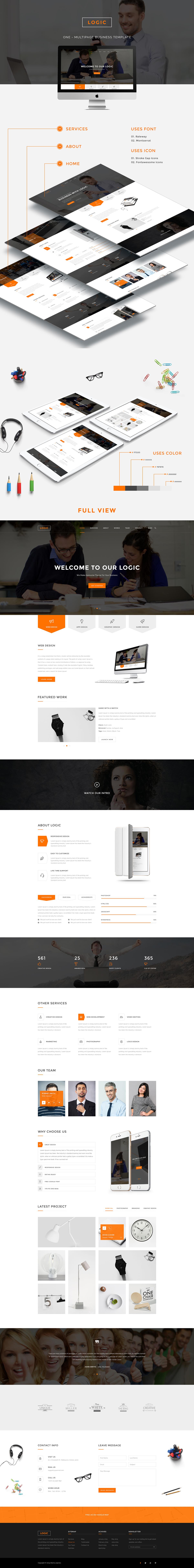 Web design free UI template free psd corporate Creative Design