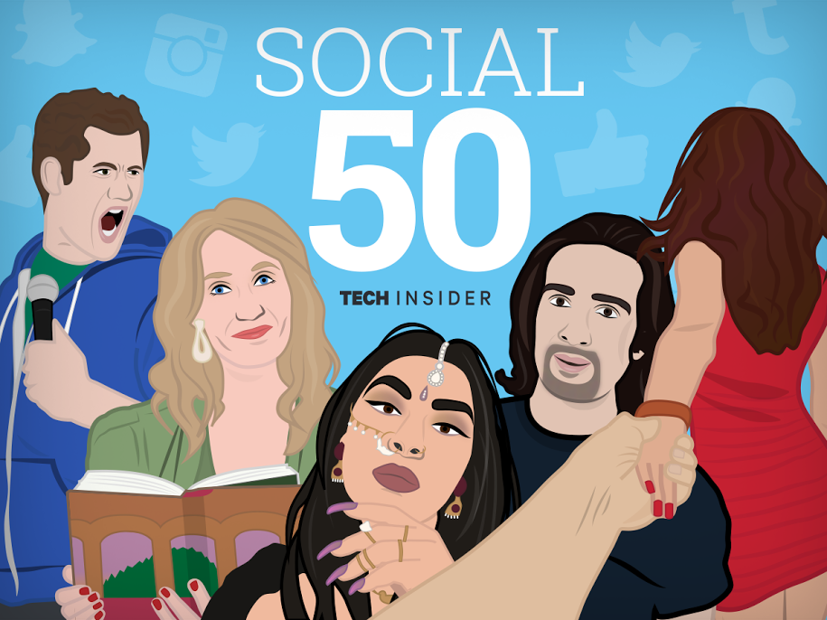 Social 50 promotional illustrations