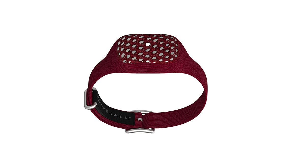 assistance bracelet flyknit Smart textile safety device design logo product