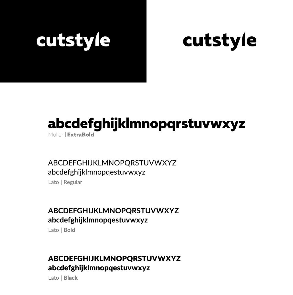 knife knfies cutstyle cut branding  brand xomedia xo media visual identity black and white