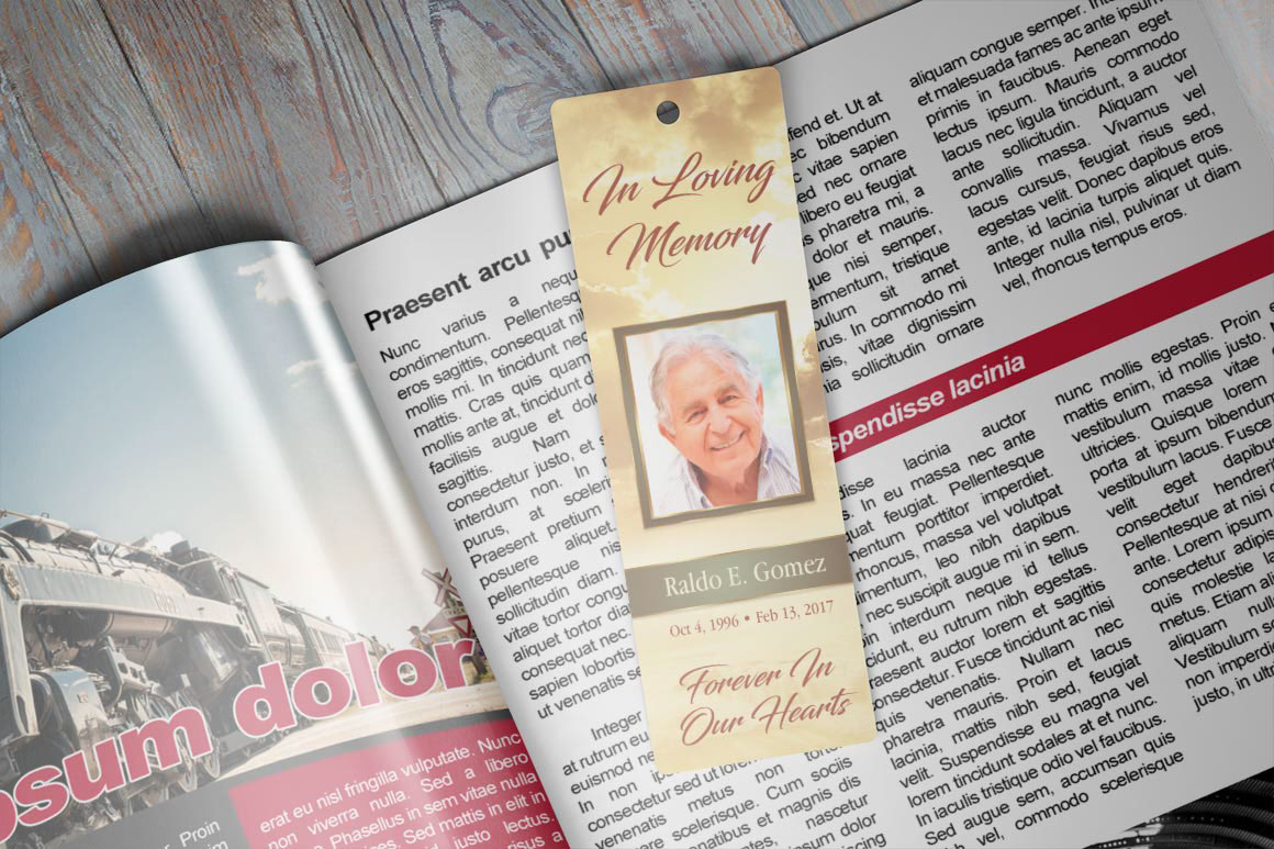 forever memorial bookmark publisher template on behance