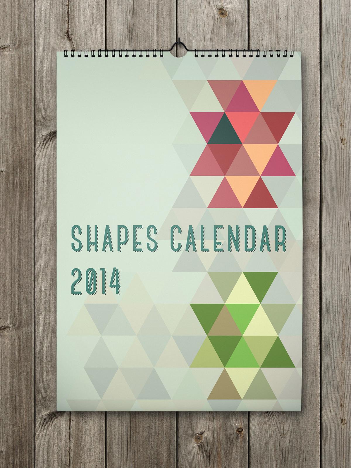Unique Calendar Design Inspiration : Desk calendar stationery templates creative market