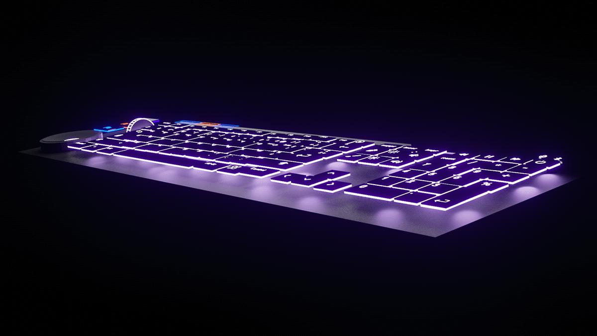 3D adobe blender keyboard mouse product design  stylus