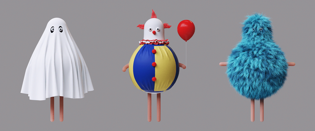 3D 3d animation animation  c4d cinema4d Halloween motion motion design octane stylized