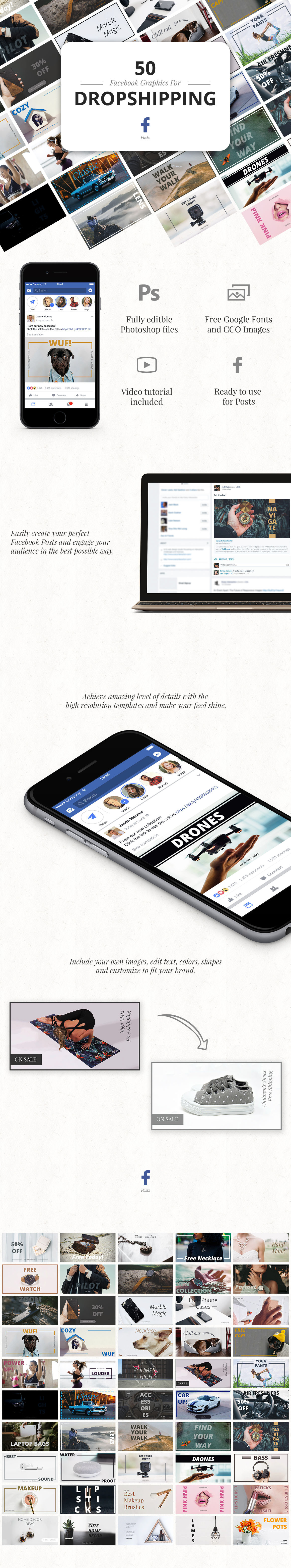 facebook dropship graphics dropshipping marketing   INFLUENCER promotion graphic facebook graphic facebook psd template Facebook Ad