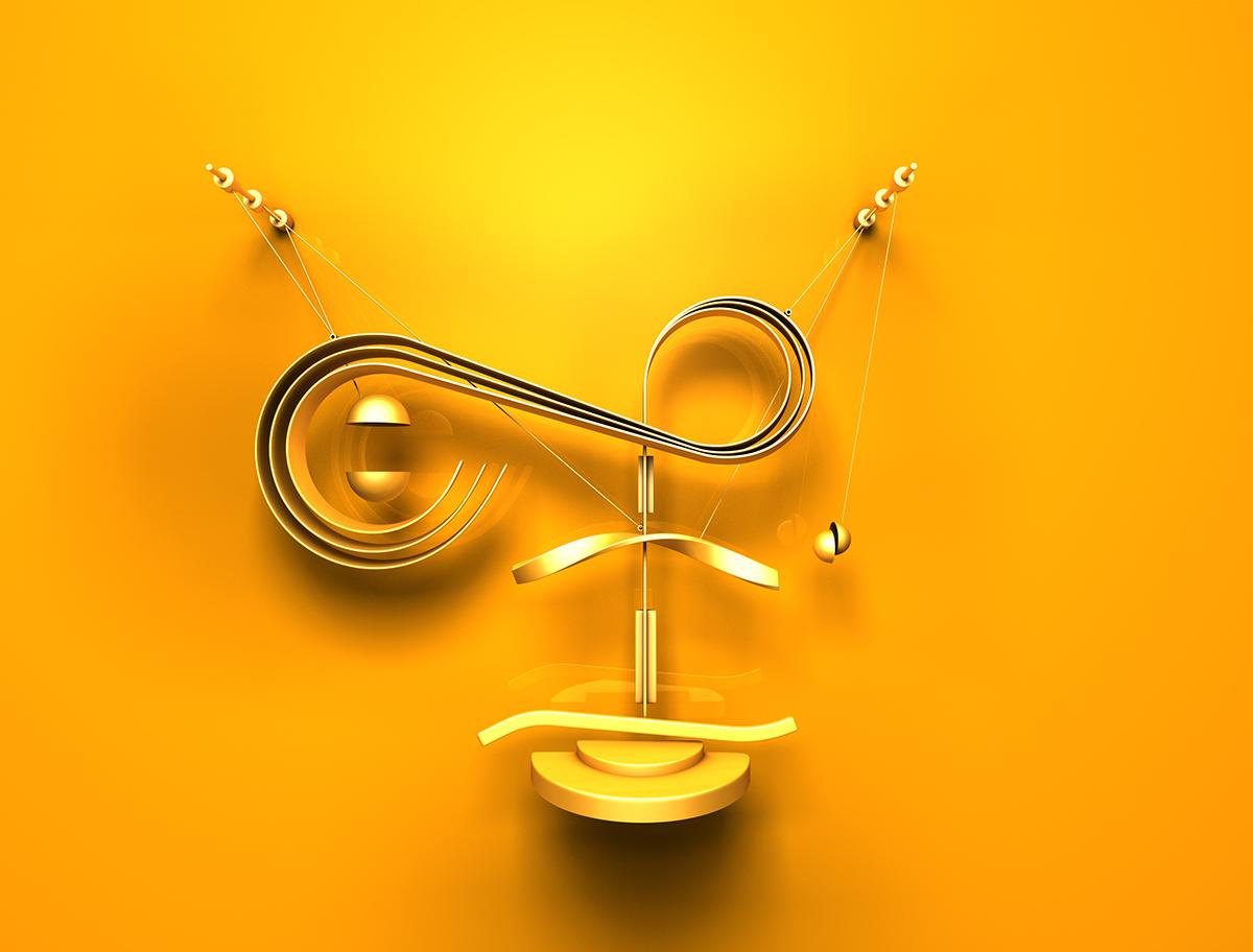 type color alphabet art 3D shape design CGI 3ds max Typeface typo cinema 4d abstract