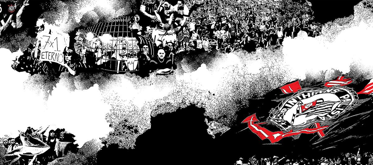 corinthians Arena soccer timão wall torcida stadium korá design