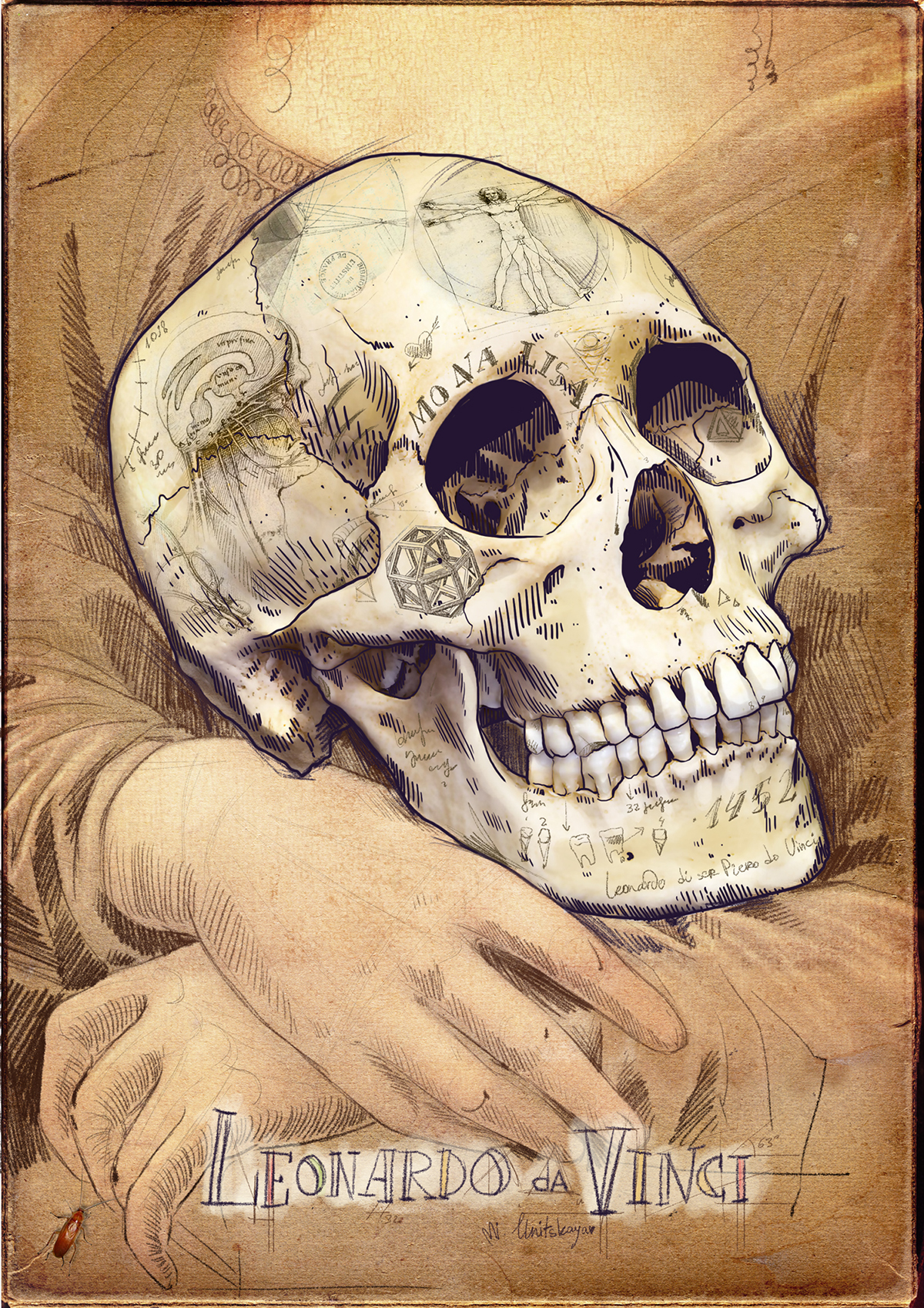 Skulls Of Famous Artists On Behance