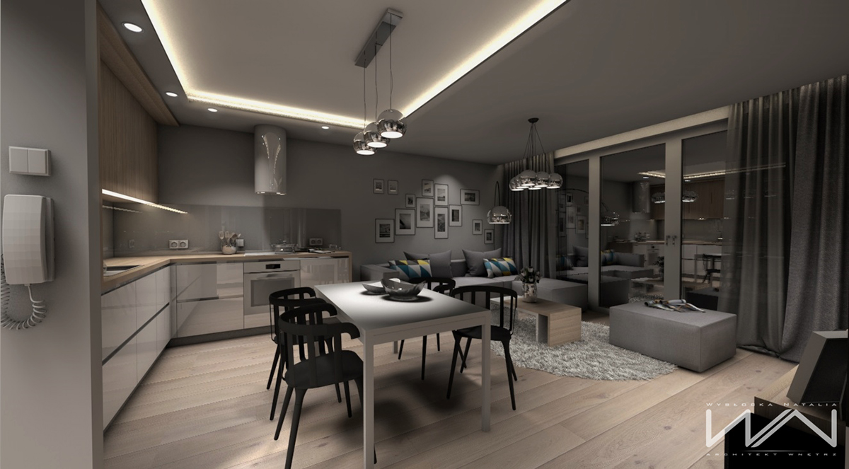 Project 60m2 apartment gdynia wiczlino part 2 on behance for 60m2 apartment design