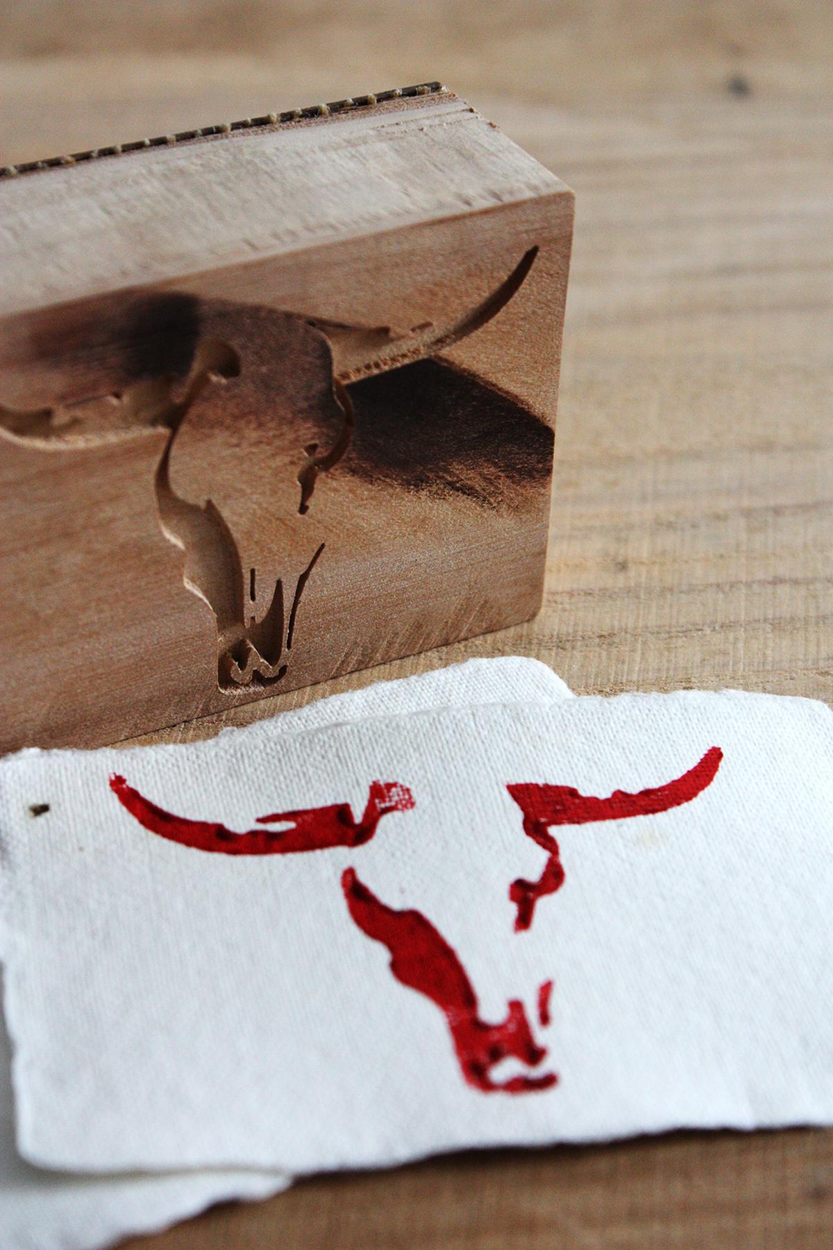 stamp bull slowprint