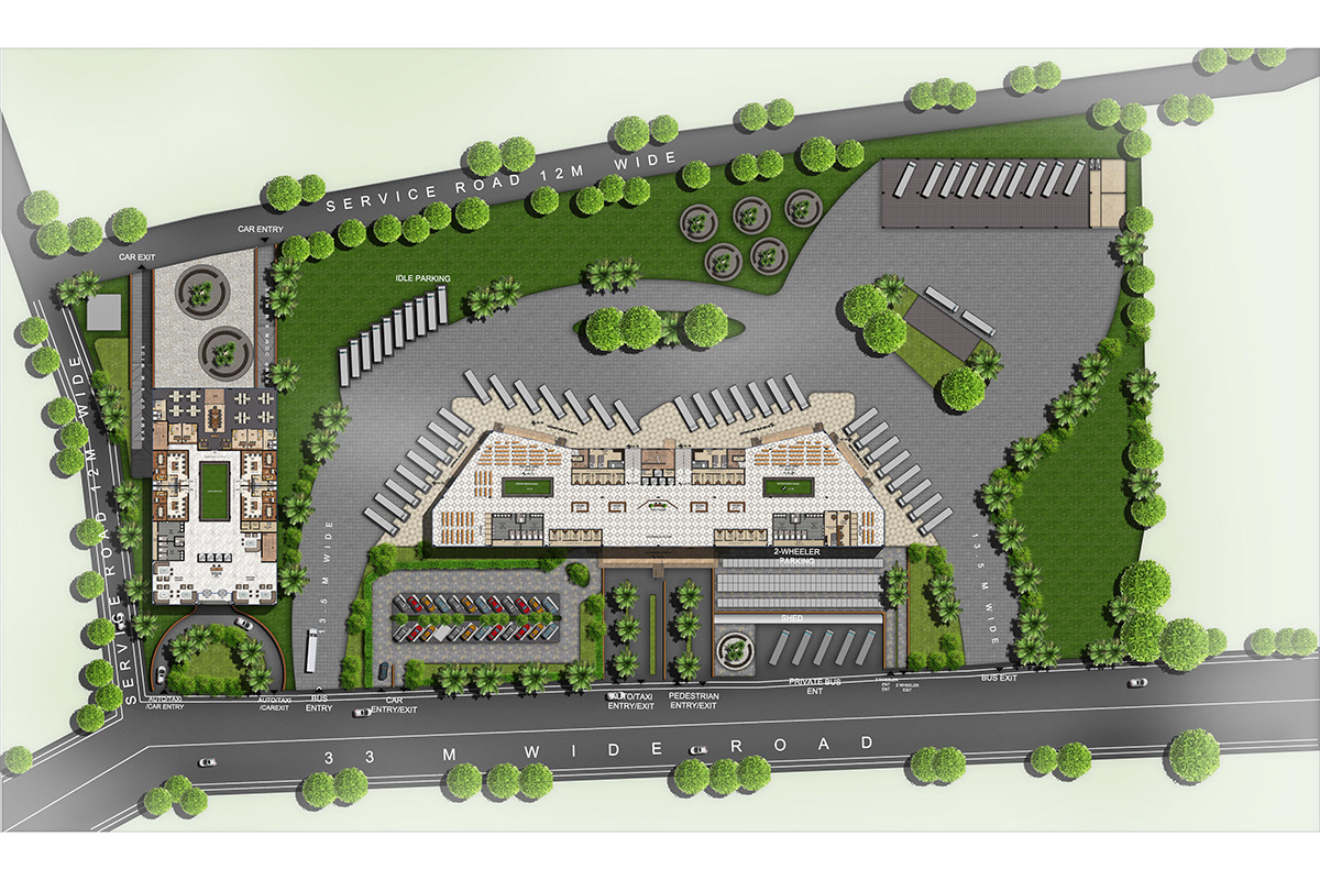 Interstate Bus Terminus And Commercial Complex On Behance